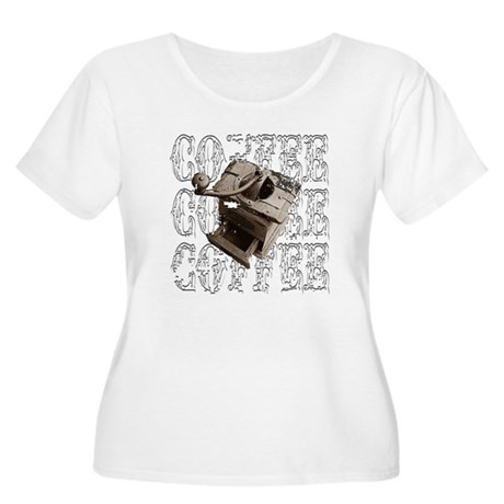 Coffee Grinder - White - Women's Plus Size Scoop