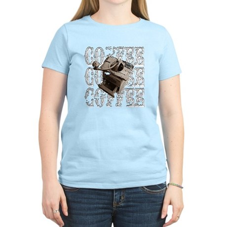 Coffee Grinder - White - Women's Light T-Shirt