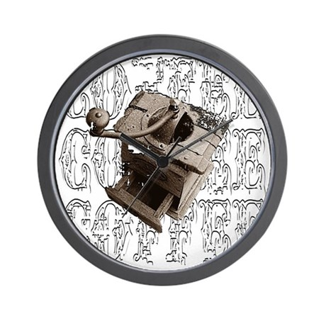 Coffee Grinder - White - Wall Clock
