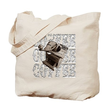 Coffee Grinder - White - Tote Bag