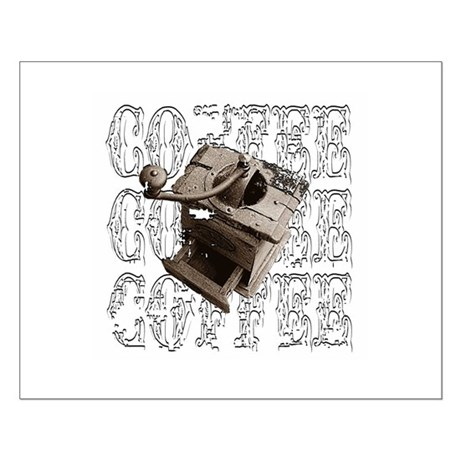 Coffee Grinder - White - Small Poster