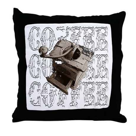 Coffee Grinder - White - Throw Pillow