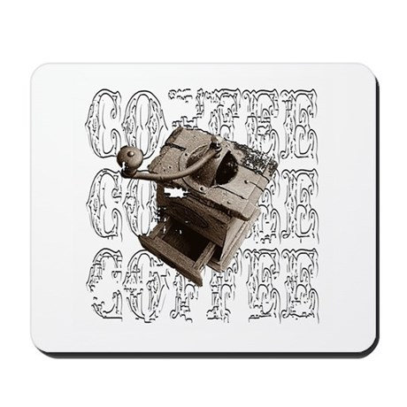 Coffee Grinder - White - Mousepad