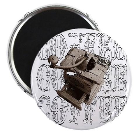 "Coffee Grinder - White - 2.25"" Magnet (10 pack)"