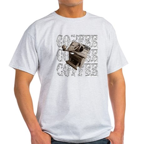 Coffee Grinder - White - Light T-Shirt