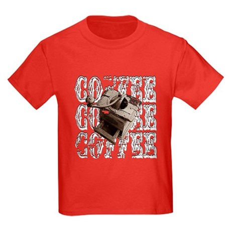 Coffee Grinder - White - Kids Dark T-Shirt