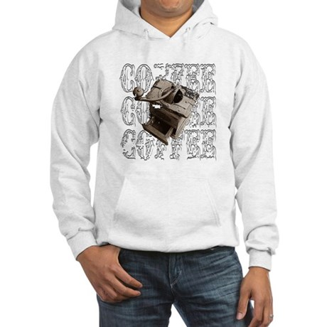 Coffee Grinder - White - Hooded Sweatshirt