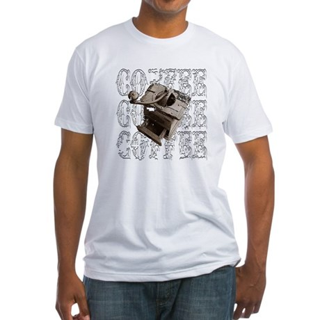 Coffee Grinder - White - Fitted T-Shirt