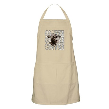 Coffee Grinder - White - BBQ Apron