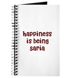 happiness is being Saria Journal