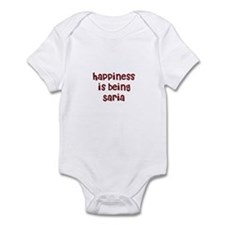 happiness is being Saria Infant Bodysuit