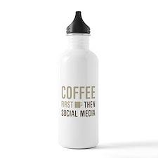 Coffee Then Social Med Water Bottle