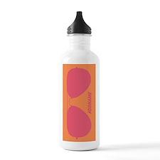 Peach Pink Hipster Sun Water Bottle