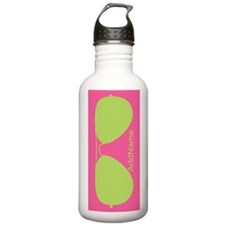 Neon Pink and Green Su Water Bottle