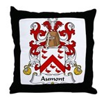 Aumont Family Crest Throw Pillow