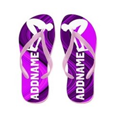 Purple Swimmer Flip Flops
