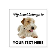 "Custom Wire Fox Terrier Square Sticker 3"" x 3"""