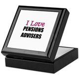 I Love PENSIONS ADVISERS Keepsake Box