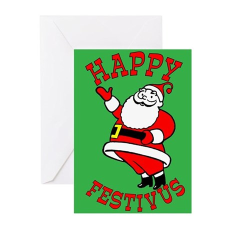 Happy Festivus From Santa Claus Cards (Pkg of 10)