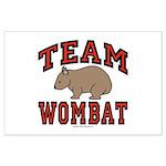 Team Wombat III Large Poster