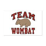 Team Wombat III Mini Poster Print
