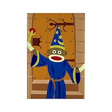 Sock Monkey Wizard Rectangle Magnet