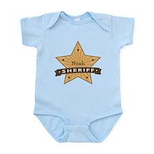 Personalizable Sheriff Star Infant Bodysuit