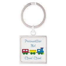 Choo Choo Train Square Keychain