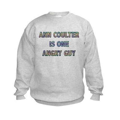 Ann Coulter Angry Guy Kids Sweatshirt