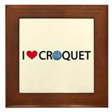 Love Croquet Framed Tile