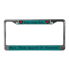 Love your pets license plate frame