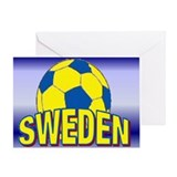 "5""x7"" Team Sweden Soccer Greeting Card"