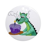 Birthday Dragon Ornament (Round)