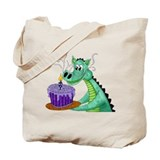 Birthday Dragon Tote Bag