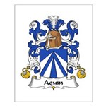 Aquin Family Crest Small Poster