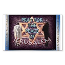 Peace of Jerusalem Rectangle Decal