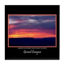 Grand Canyon Sunset #5 Souvenir Tile