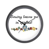 Sewing Stitches Wall Clock
