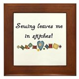 Sewing Stitches Framed Tile