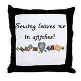 Sewing Stitches Throw Pillow