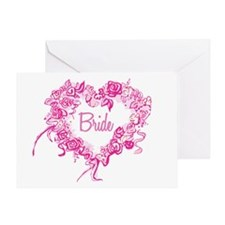 BP Pink Heart Bride Greeting Card