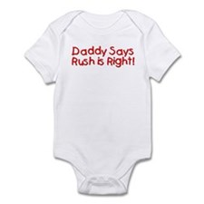 Daddy Says Infant Onesie
