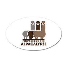 Prepare For The Alpacalypse 38.5 x 24.5 Oval Wall