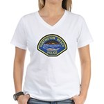 Huntington Beach Police Women's V-Neck T-Shirt