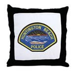 Huntington Beach Police Throw Pillow