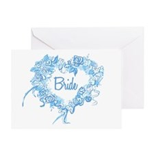 BP Blue Heart Bride Greeting Card