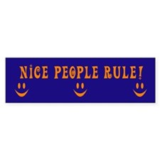 Nice People Rule Bumper Bumper Sticker