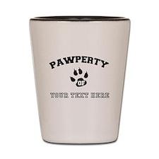 Personalized Cat Pawperty Shot Glass