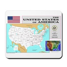 USA Map Mousepad