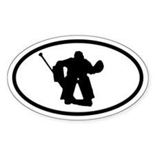 Hockey Goalie Oval Stickers